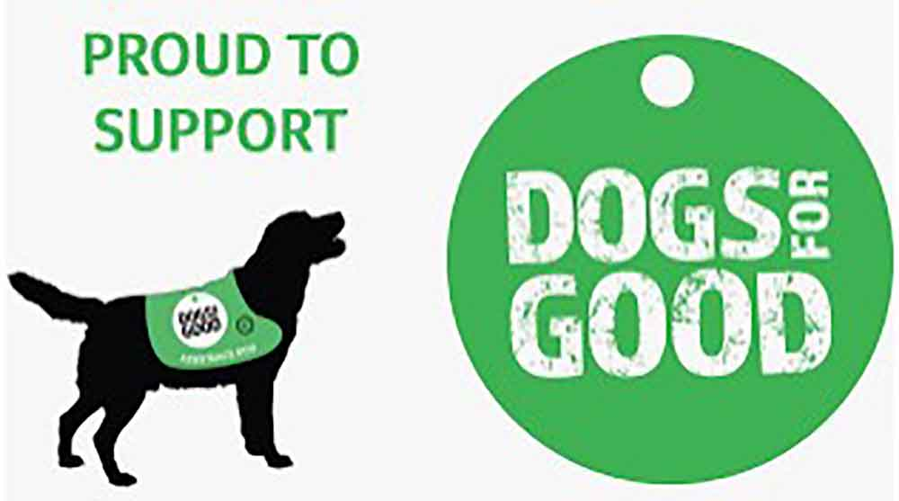 logo We support dogs for good