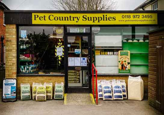 Pet Country Supplies Shop Front in Oxfordshire